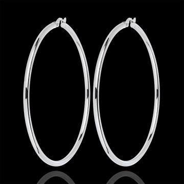 Boucles d'oreilles créoles or blanc 2-50mm  http://www.edenly.com/creoles-or/boucles-oreilles-creoles-or-blanc-50mm,3156,38.html