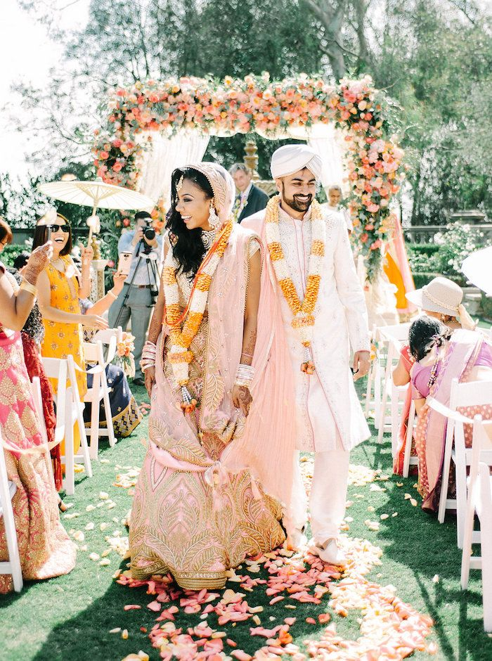 a colorful and festive Indian wedding ceremony!