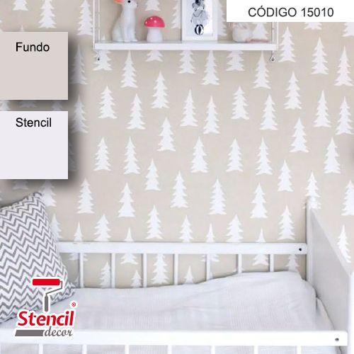 Pinheirinhos – Stencil Decorativo (molde para pintura)