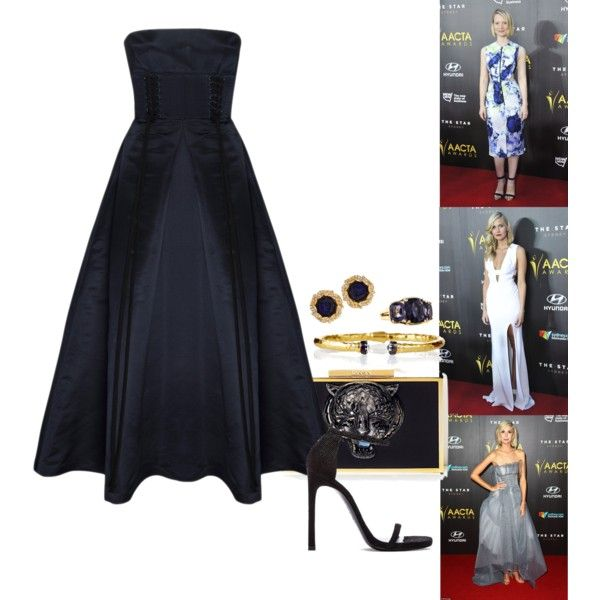 2015 AACTA Awards - Part 1 by foreverforbiddenromancefashion on Polyvore featuring Alex Perry, Stuart Weitzman, Ben-Amun, Avindy, Lanvin and Commando