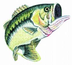 Balboa embroidery designs large mouth bass 7 lake for Balboa lake fishing