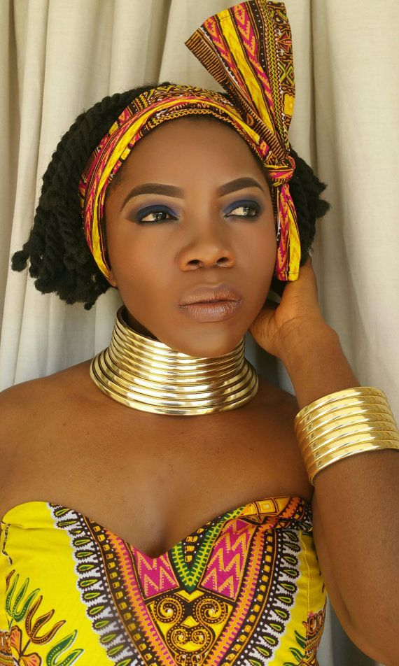 Traditional Ndebele choker and bangle Set. by ZuluBeads on Etsy
