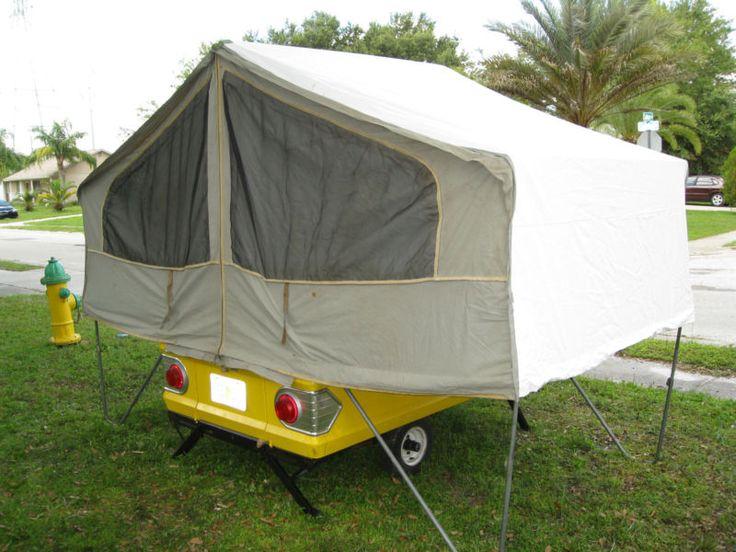 1965 Apache Raven tent popup Camper Trailer Vintage The