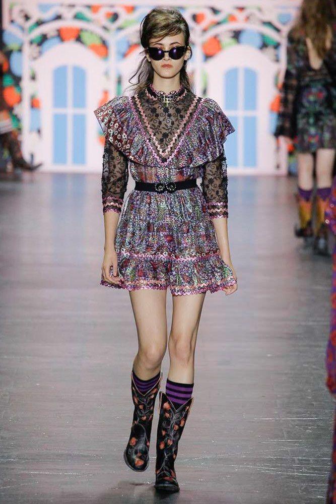 Anna Sui коллекция | Коллекции весна-лето 2017 | Нью-Йорк | VOGUE