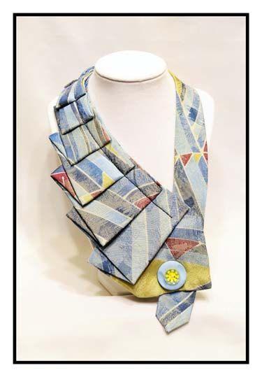 Pastel- Unique Repurposed Necktie Art Accessory Necklace/Trendy Collar via Etsy