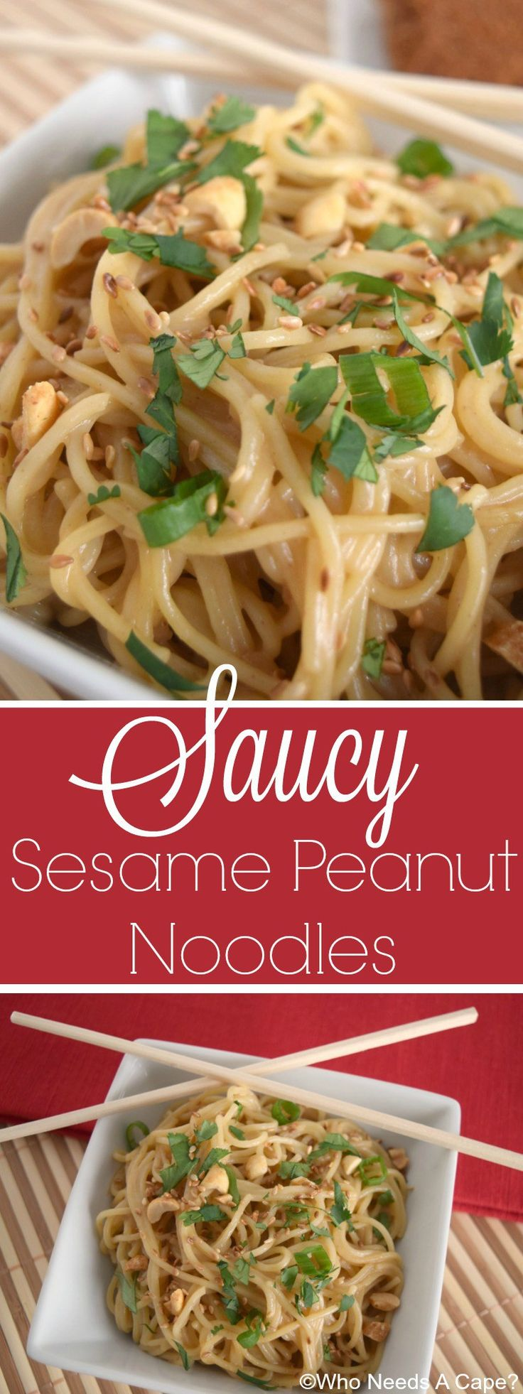 Ready in a snap these flavorful Saucy Sesame Peanut Noodles are the perfect…