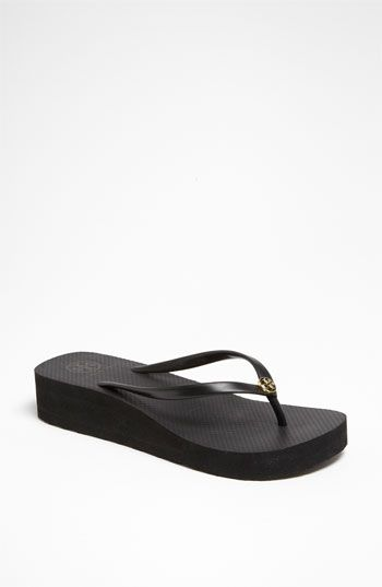 Tory Burch black flip flops. Just got these at Nordstrom today <3