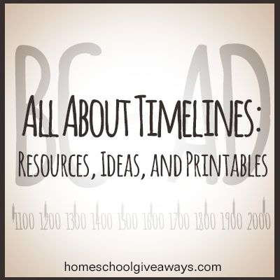 All About Timelines: Resources, Ideas and FREE Printables | Homeschool Giveaways