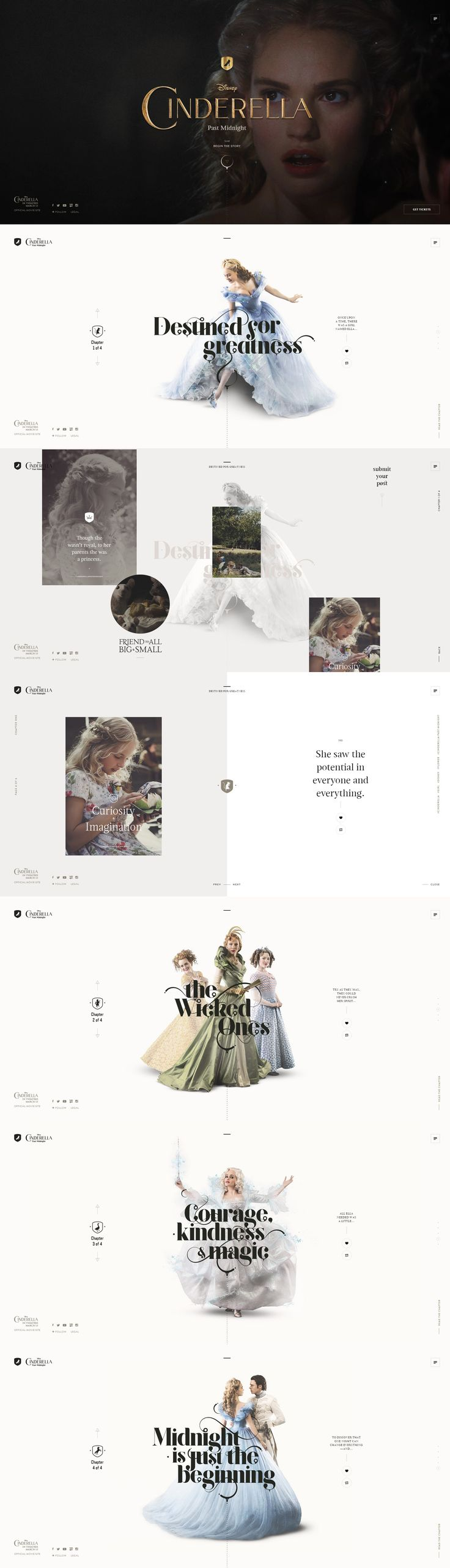 Love the typography and white space on this Tumbler: Cinderella Past Midnight - #website #design inspiration