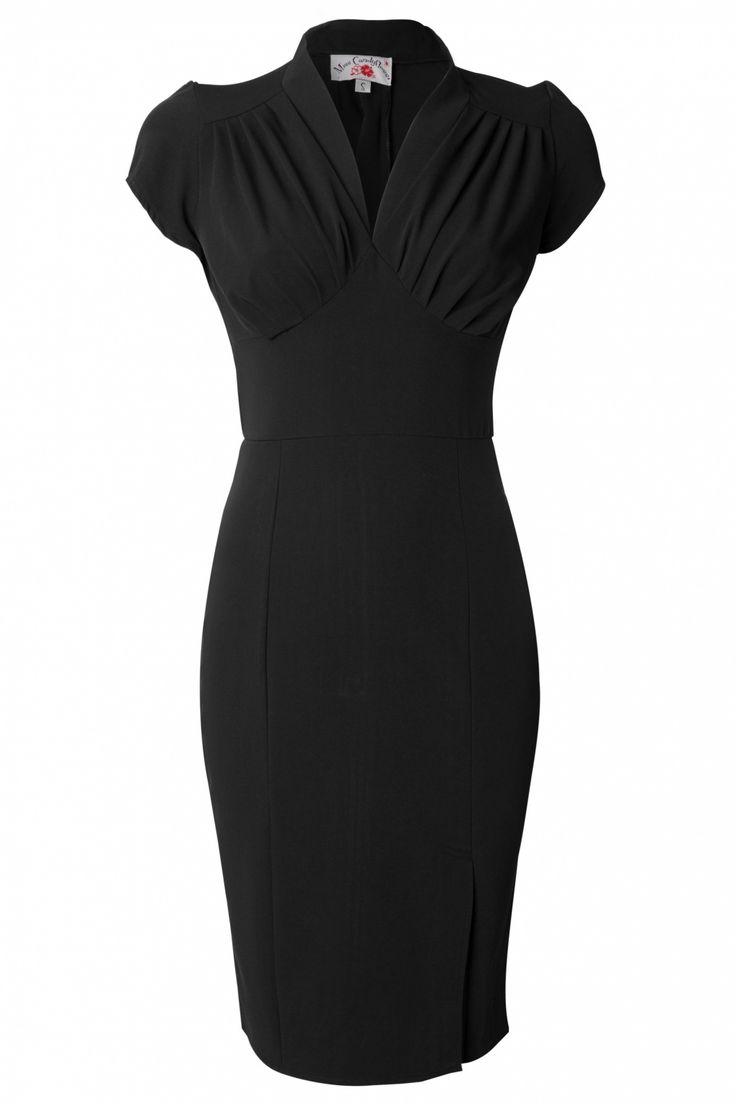Miss Candyfloss - 50s Mavis black pencil dress