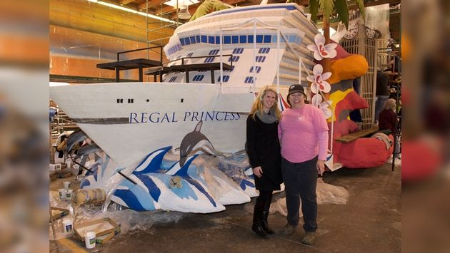 Princess ship float to sail in rose parade to try in for Princess float ideas