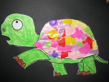 dieren opvullen met stukjes papier (activiteit bij boek 'Ik voel een voet')