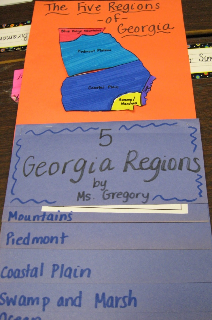 Mandy's Tips for Teachers: Five Regions of Georgia