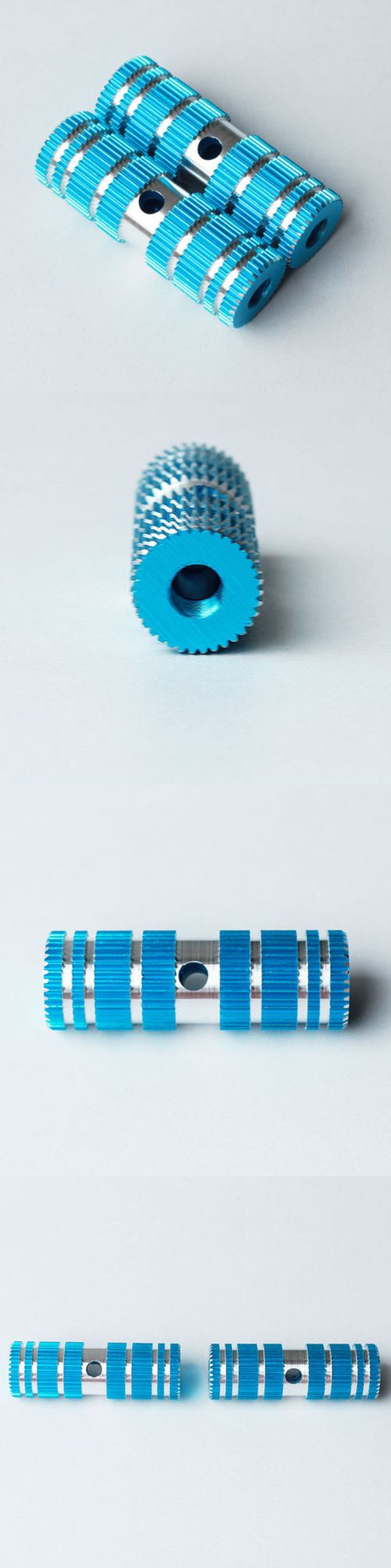 Pegs 106943: 4Pc Composite Aluminum Metal Bike Foot Pegs Small Gear Style Ridged (Blue) -> BUY IT NOW ONLY: $49.79 on eBay!