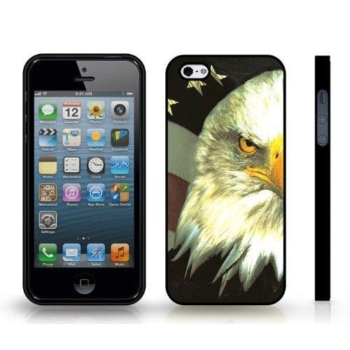 Bald Headed Patriotic Flag Symbol Design Snap-on Cover Hard Carrying Case for iPhone 5/5S (Black)  Bald Headed Patriotic Flag Symbol Design Snap-on Cover Hard Carrying Case for iPhone 5/5S , Maintains a slim profile, covering the back and corners of the phone. Slim case allows easy access to all buttons, controls and ports.Water-repellent Hard outer shell, High Quality Grade Material, Perfect fit. Accessory ONLY, phone not included.
