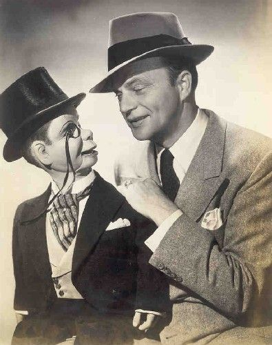 Candice Bergen's dad, Edgar Bergen (with Charlie McCarthy)