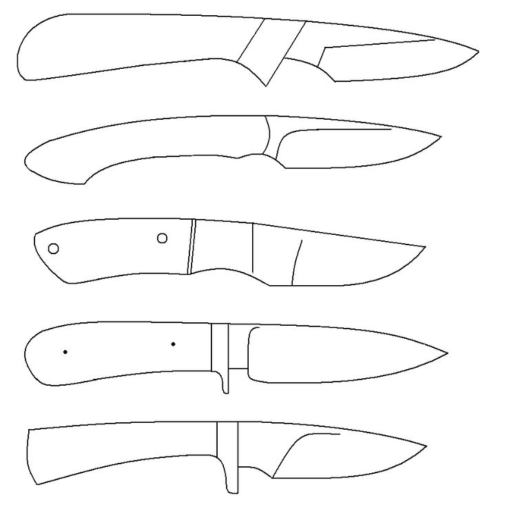 knife designs templates