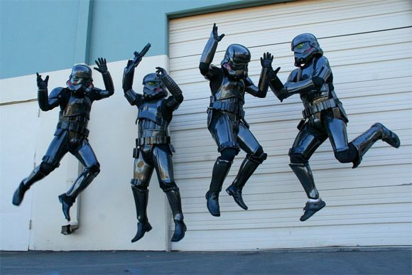 Leonard Carson and three coworkers banded together to make themselves custom carbon fiber Star Wars stormtrooper uniforms. They built the uniforms in their free time, taking advantage of the resources available at their workplace, San Diego Composites, a manufacturer of missile components and other aerospace technologies.