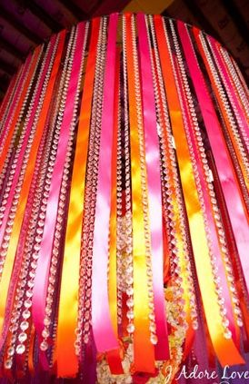 Pink and Orange Wedding Ideas | ... , hot pink, orange, ribbons, south asian, Summer, decor) - Loverly