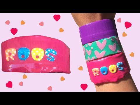 Roze armband knutselen met naam – DIY duct tape