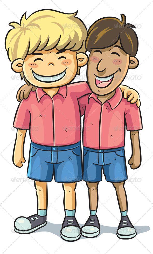 Friendship Graphicriver Cartoon Illustration Of Friend Relationship