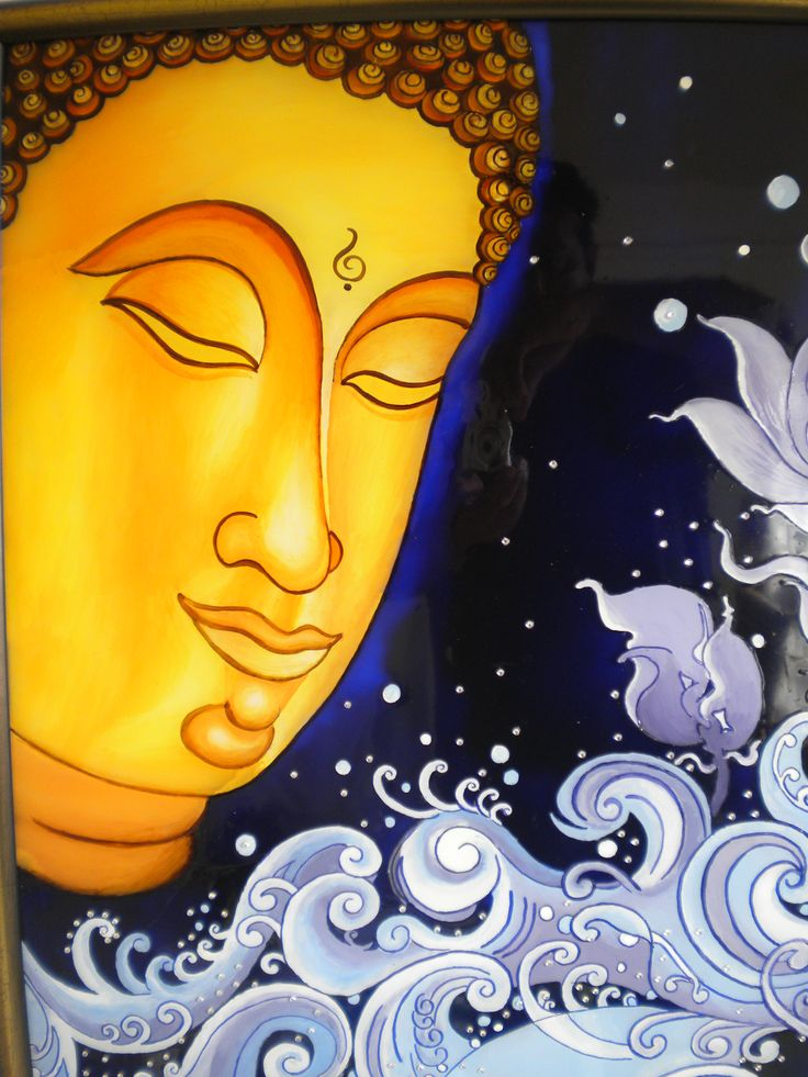 Buddha painting made on request glass painting for Buddha mural art