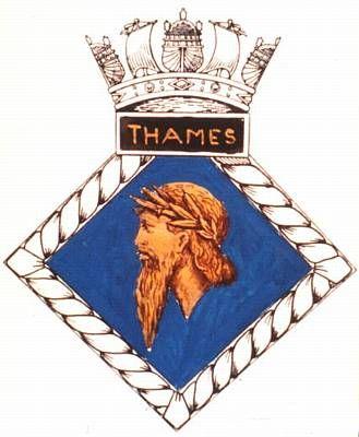 Image result for hms thames badge