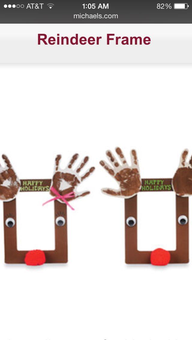 Christmas Crafts - reindeer frames