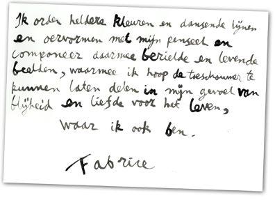 Tekst Fabrice