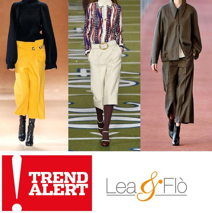 #Buonasera #FashionLovers!  Diamo inizio al nuovo anno con le ultimissime tendenze di stagione dalle passerelle #AW1516!  I #pantaloni ampi in stile capri!  Morbidi, in lana o viscosa, oppure in pelle, con un accento più rock. In ogni caso, la linea più comoda che potrete mai indossare! wink emoticon Va da sè che da Lea & Flò ... ne trovate per tutti i gusti! I #SALDI non sono mai stati così #Trendy ;)