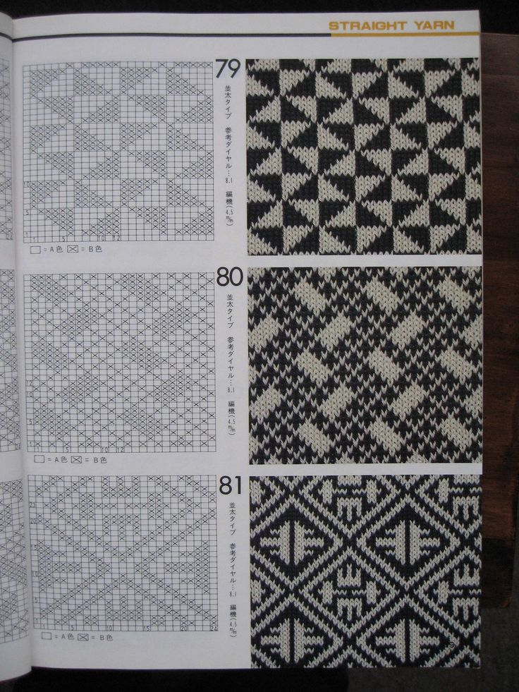 альбомы узоров для вязания по перфокартам
