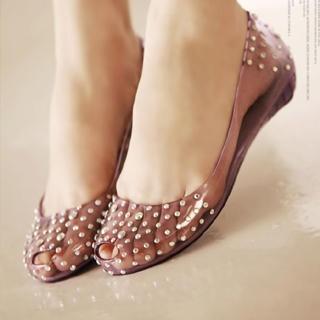 Peep-toe jelly flats.sooo comfy!:): Flats Sooo Comfy, Www Lovelyshoes Net, Jelly Shoes, Peep Toe Jelly, Random Style, Jelly Flats Sooo