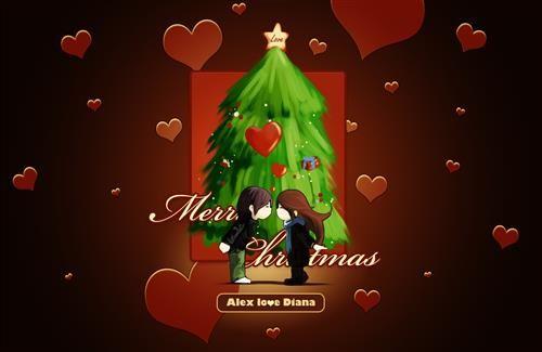 2013 Merry Christmas Love Cartoon HD Images