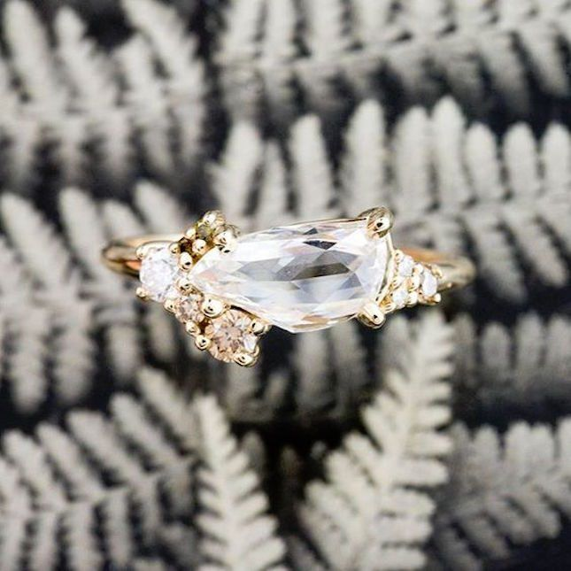 12 Diamond Cluster Engagement Rings So Chic, You Might Buy One for Yourself via Brit   Co