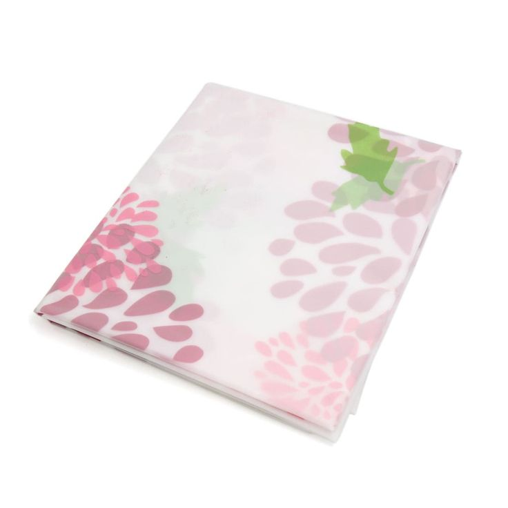 Peva Flower Pattern Household Waterproof Anti-dust Table Desk Cover Tablecloth, Clear