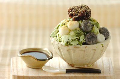 抹茶白玉味の台湾風かき氷 #matcha
