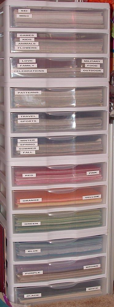 12x12 Paper Storage and Organization - Scrapbook.com