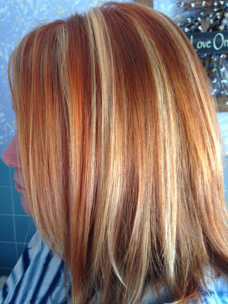 Copper And Blonde Foils Copper Blonde Hair Color Copper