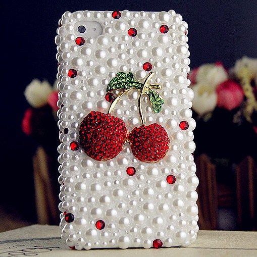 $ 19.99 New Arrival Cute Cherry Rhinestone Design Case for iphone4/4s/5, Samsung, HTC #cheap i phone case #cheap cell phone cases #Sales