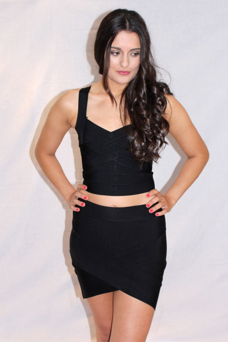 MIDNIGHT MISSION BLACK CROP TOP & MIDNIGHT MISSION BLACK SKIRT Available at www.emilylaine.com.au