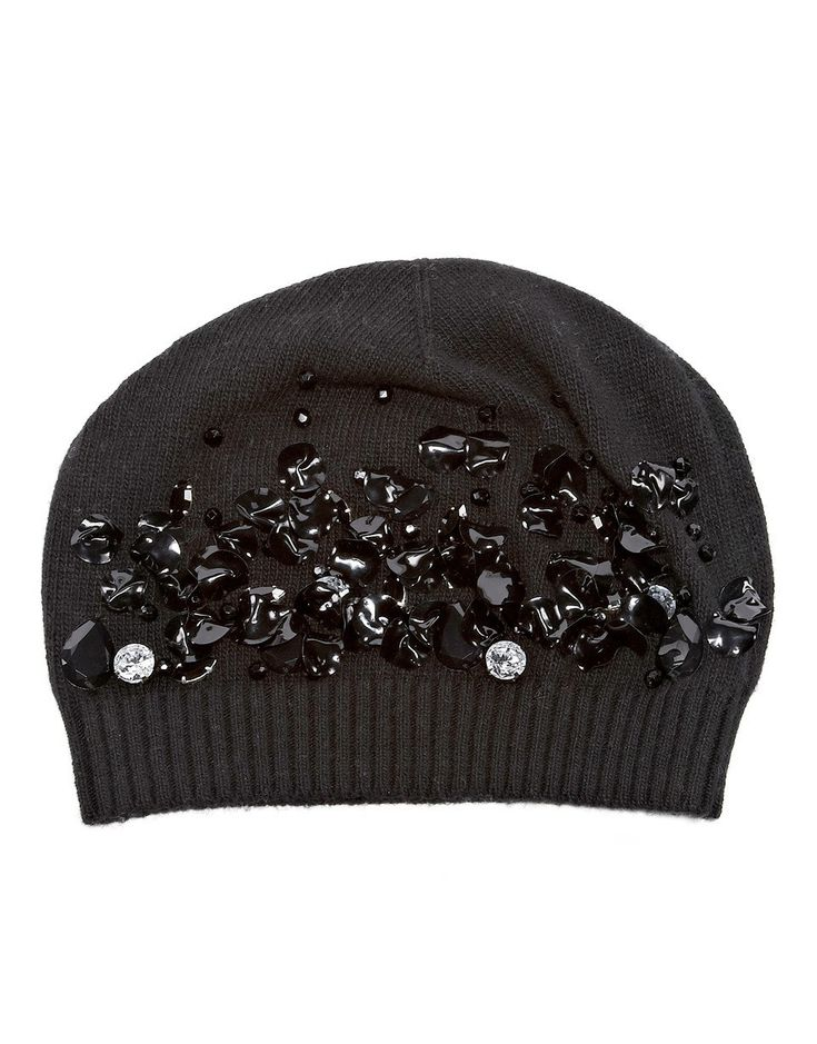 Gift Guide - Blugirl Fall Winter 2015/2016 • Crystal and sequin-embellished beanie - Give cold-weather outfits a glamorous spin with Blugirl's sequined and crystal-embellished beanie. Knitted from cozy wool and cashmere, this hand-finished piece has a relaxed shape and will work with all your cold-weather outfits.