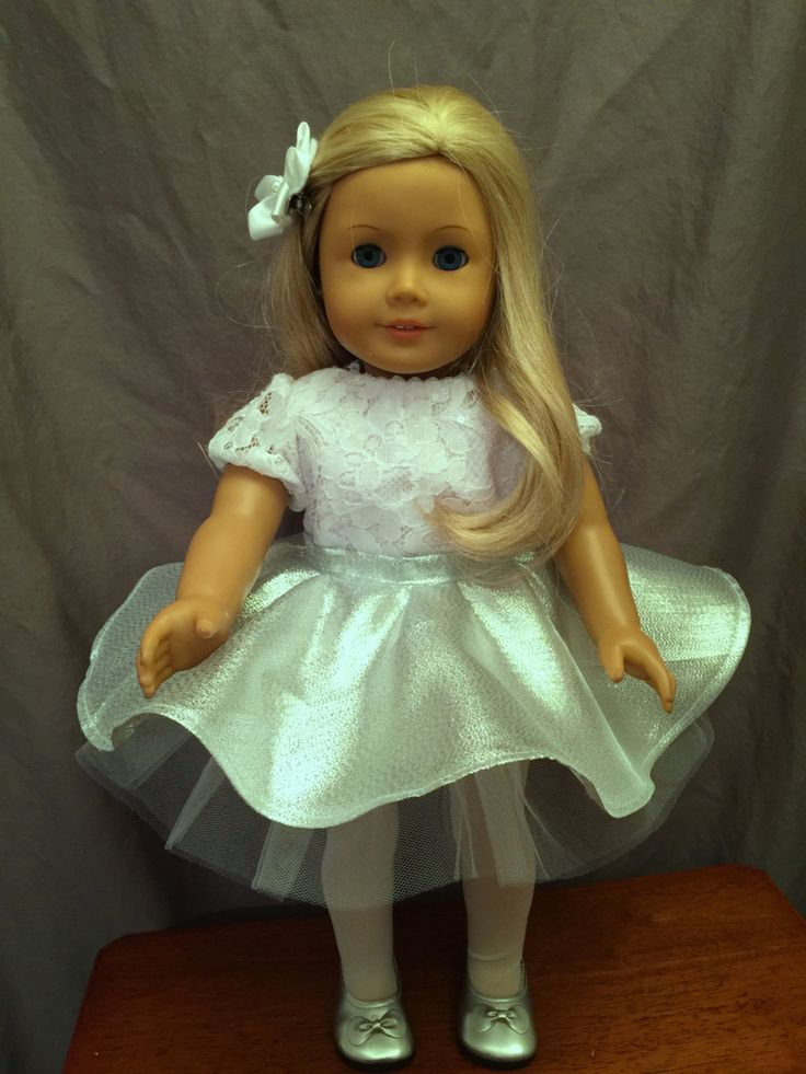Homemade Doll Clothes  Fitted For 18 Inch Dolls Like American Girl Dolls: Silver…
