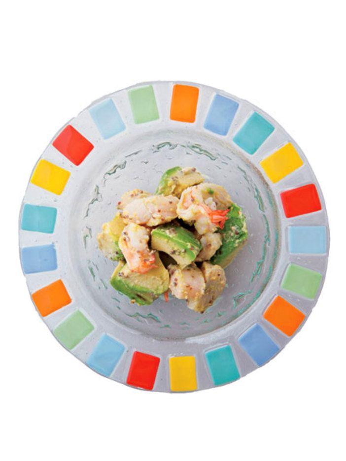 海老とアボカドのテッパンコンビがサラダに。|『ELLE a table』はおしゃれで簡単なレシピが満載!