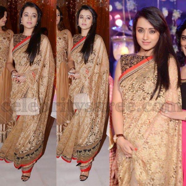 Trisha at Raghavendra Rao Son Wedding