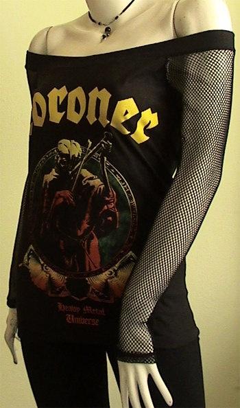 CORONER Universe Metal DIY Women Top Shirt size S / M / by obskura, $39.99