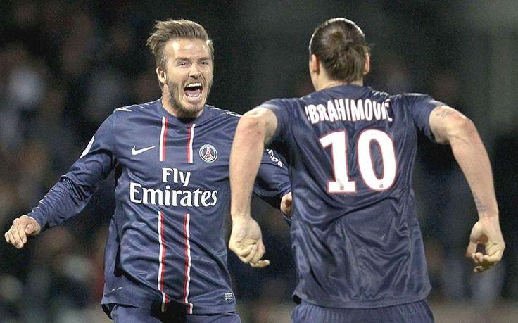 David Beckham and Zlatan Ibrahimovic - David Beckham: career in pictures