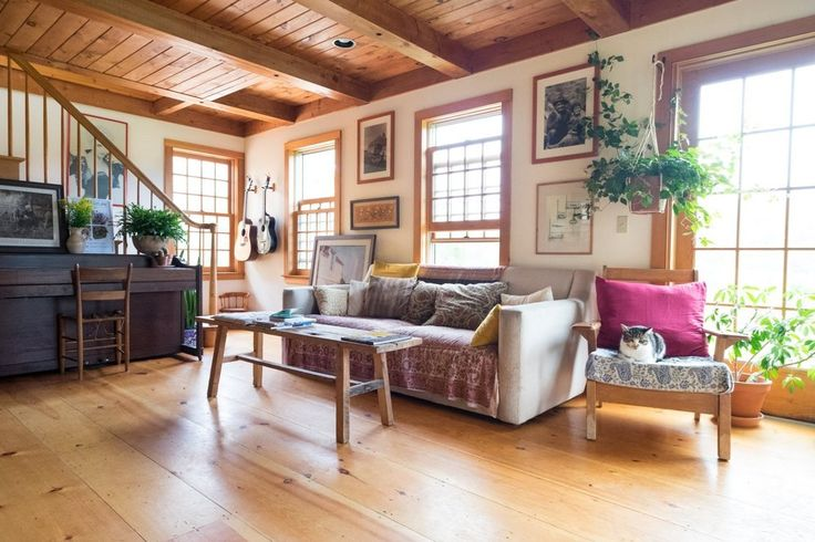 House tour a back to the land vermont home and yurt for The family room vermont