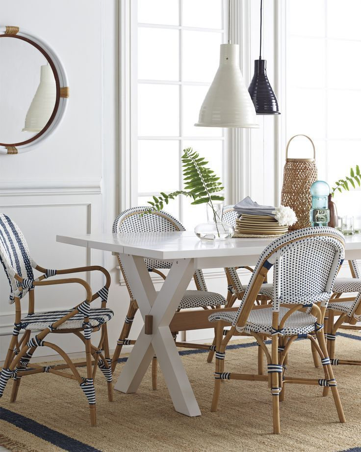 California Dining Table French Bistro Chairs Dining Room Design