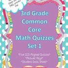 The 3rd Grade Common Core Aligned Math Quizzes Set 1 provides five quick and meaningful CCS aligned quizzes to assess your students! Each quiz has ...