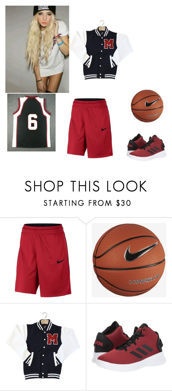 """""""Alexis Morgan  Basketball uniform"""" by bandloverforever12 ❤ liked on Polyvore featuring NIKE and adidas"""
